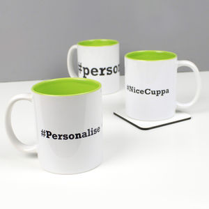 Personalised Hashtag Social Media Mug - mugs