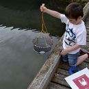 Thumb chiildren s crabbing kit in recycled sailcloth bag