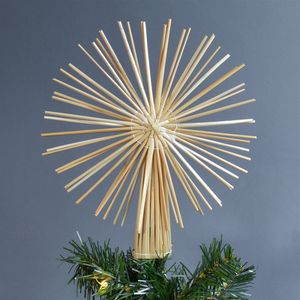 Straw Star Christmas Tree Topper