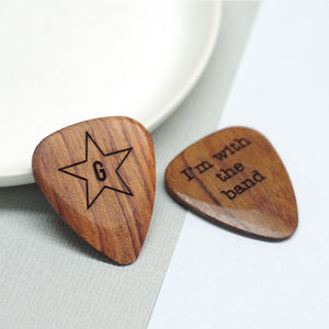 Personalised Wooden Star Plectrum