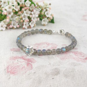 Blossom Labradorite And Sterling Silver Bracelet - women's jewellery