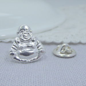 Silver Buddha Tie Pin