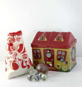 Tin Marble Cottage - collector's toys & games