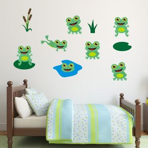 Friendly Frogs Wall Stickers Pack