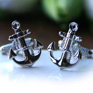 Anchor Cufflinks - men's jewellery