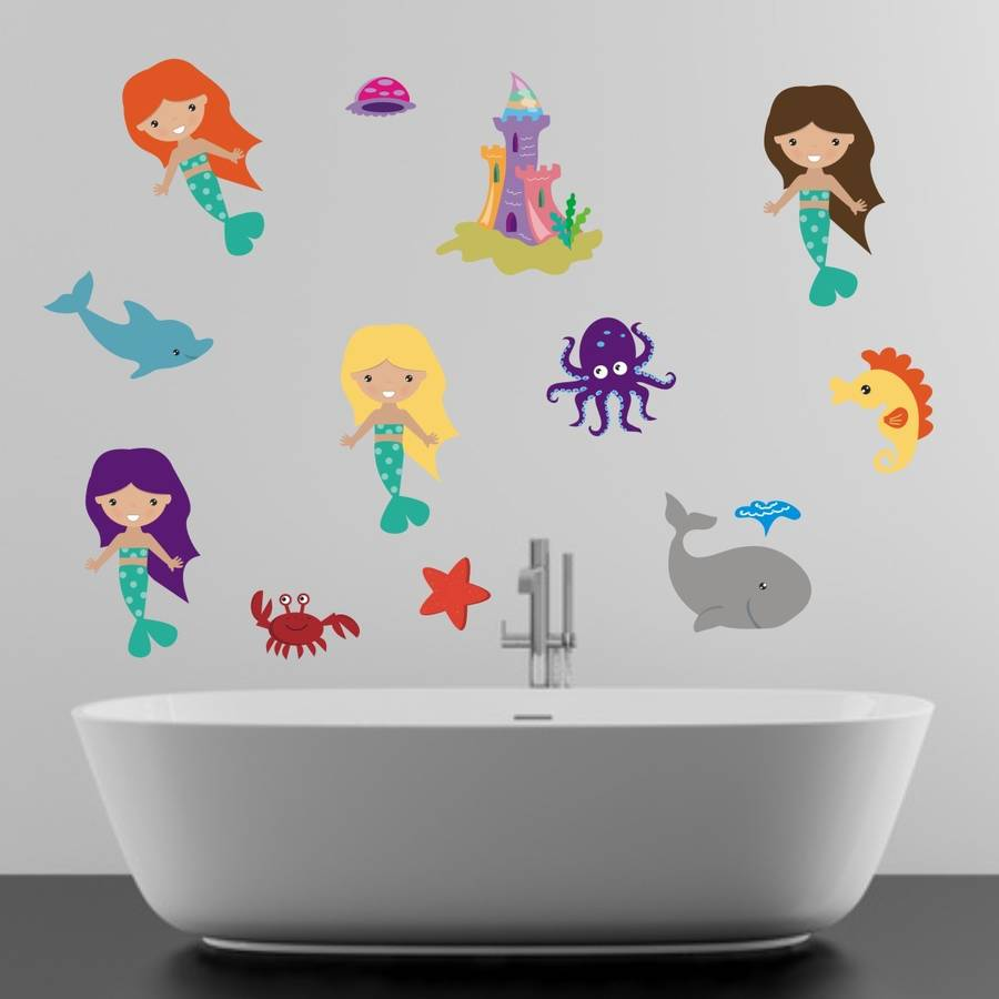 Mermaids In The Sea Wall Sticker
