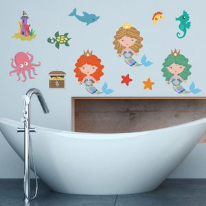 Under The Sea Mermaids Wall Stickers - wall stickers
