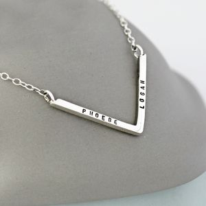 Personalised Chevron Necklace - jewellery for mum