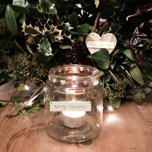 'Merry Christmas' Button Hearts Glass Jar - christmas home accessories