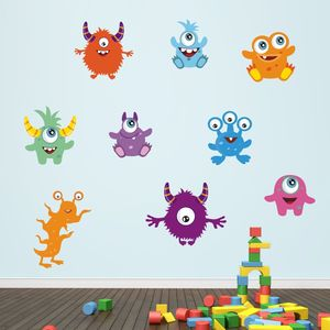 Friendly Monsters Wall Stickers Pack - children's room accessories