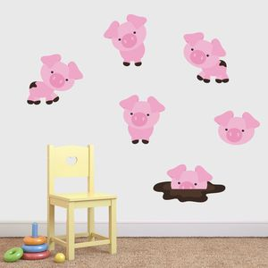 Friendly Pigs Wall Stickers Pack - wall stickers