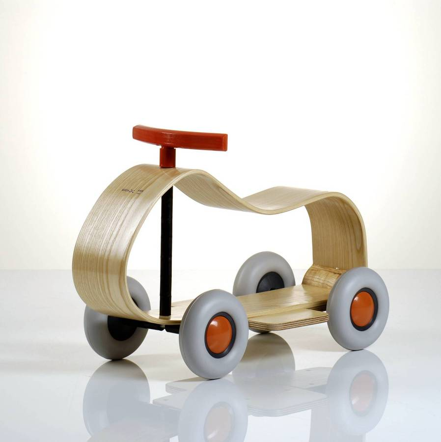 Sculpted Wooden Ride On Car