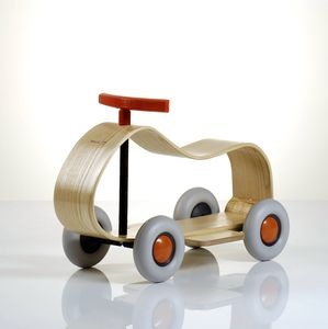 Sculpted Wooden Ride On Car - new modern toys