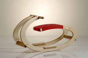 Oval Wooden Rocker - toys & games