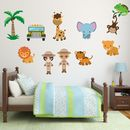 Safari Animals Scene Wall Stickers