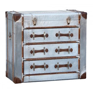 Aluminium Industrial Look Large Chest Of Drawers