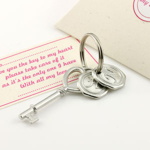 Key To My Heart Pewter Keyring