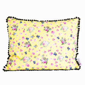 Betty Vintage Floral Oblong Cushion - cushions