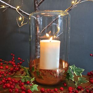 Copper Domed Candle Holder