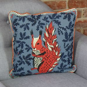 Disaster Designs 'Collective Noun' Squirrel Cushion - whatsnew
