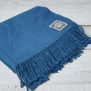 Luxury Fine Merino Throw Peacock
