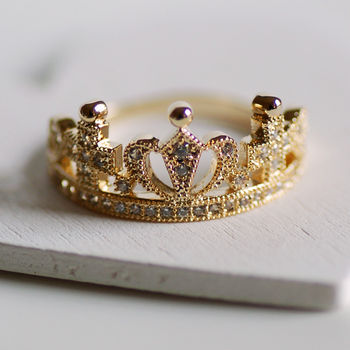 Dainty Crown Ring