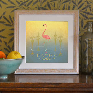 'Flamingo' Art Print - posters & prints