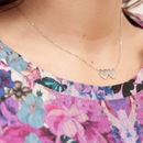 Bride's Personalised Silver Double Heart Necklace