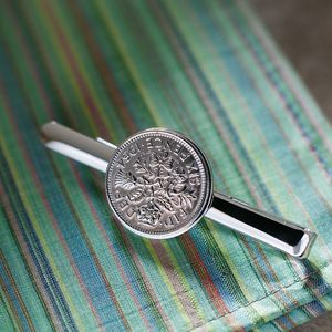 Lucky Sixpence Tie Pin. All Coin Dates Available - ties & tie clips