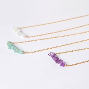 Long Gold Necklace With Gemstones - necklaces & pendants