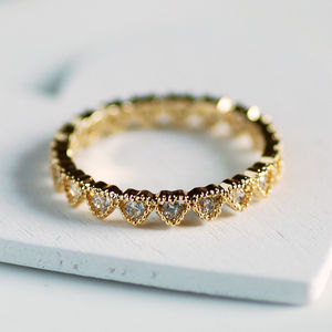 Dainty Hearts Ring - rings