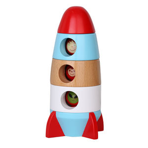 Eco Friendly Wooden Magnetic Rocket