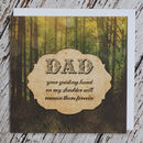 'Guiding Hand' Father's Day Card