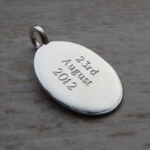 Personalised Silver Tags - charm jewellery