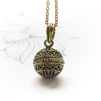 Brass Orb Chime Necklace
