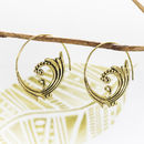 Large Leaf Spiral Earrings