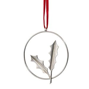 Sterling Silver Holly Decoration - christmas decorations