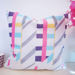 Industrial Pop Pattern Cushion - bedroom