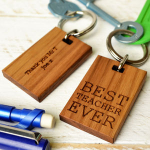 'Best Teacher Ever' Keyring
