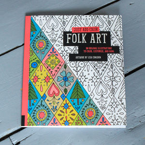 Folk Art Colouring In For Grown Ups - interests & hobbies