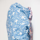 Cotton Bath Hat In French Blue Swallow Print