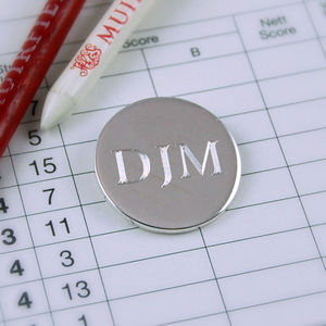 Sterling Silver Golf Ball Marker - gifts under £50