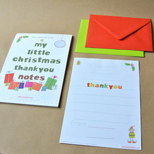 24 'Little Christmas' Thank You Notes And Envelopes - cards