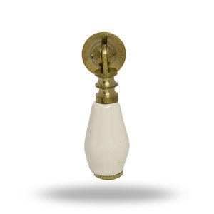 Pull Knob Off White Brass Finish Catia