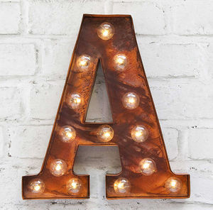 'A' LED Carnival Light - wall lights