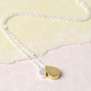 Mother And Baby Droplet Necklace