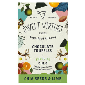 Sweet Virtues Chia Seeds And Lime Superfood Truffles - dairy free food gifts