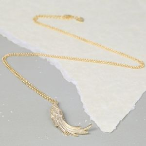 Large Wing Pendant Necklace