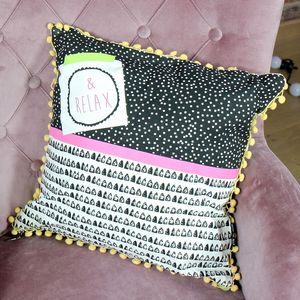 'Note To Self' Relax Cushion - whatsnew