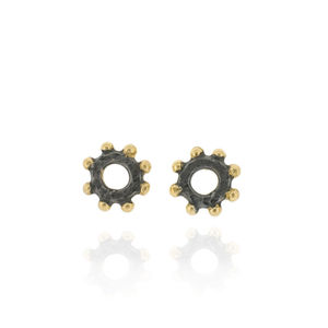 Casia Stud Earrings Black - earrings
